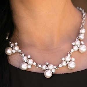 Toast To Perfection White Necklace/Earrings